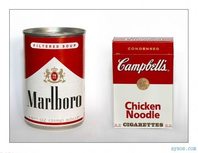 Marlboro cigarettes and Campbells soup