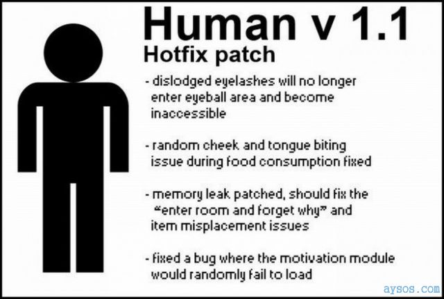 Human hotfix patch