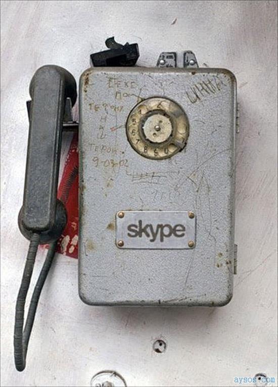 Skype Funny Vintage Phone