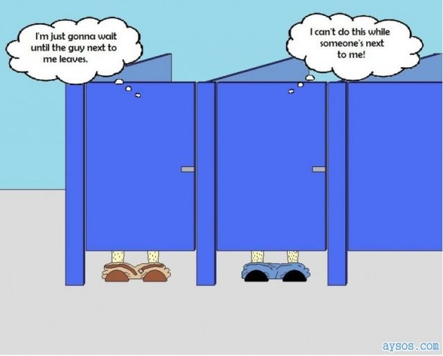 Funny picture public restroom dilemma