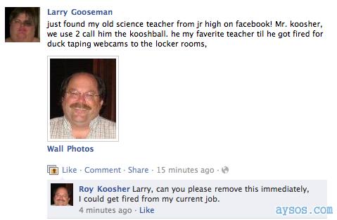 Facebook guy pervert getting fired