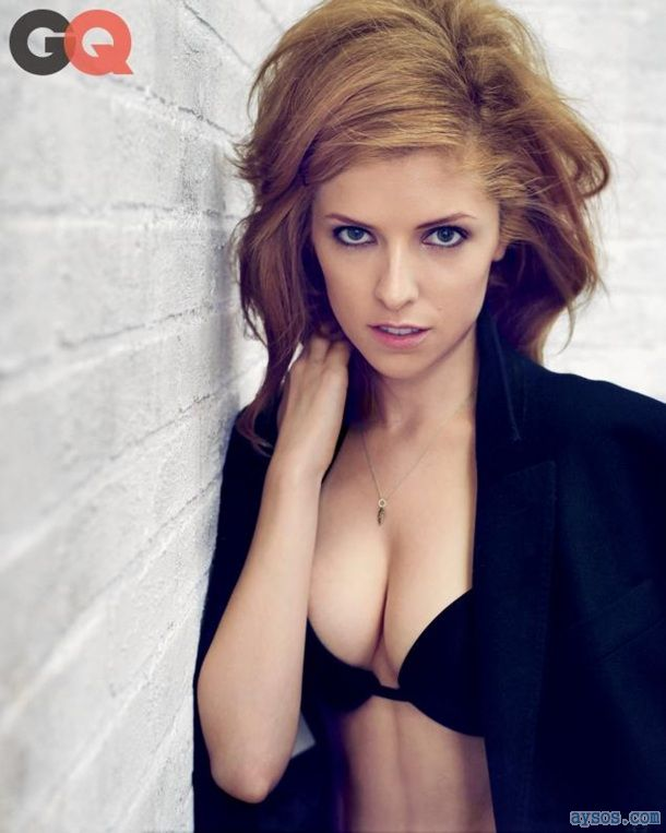 Anna Kendrick seductive looking in her Bra