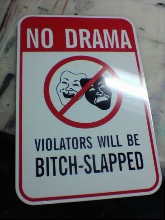 Funny sign violators bitch slapped
