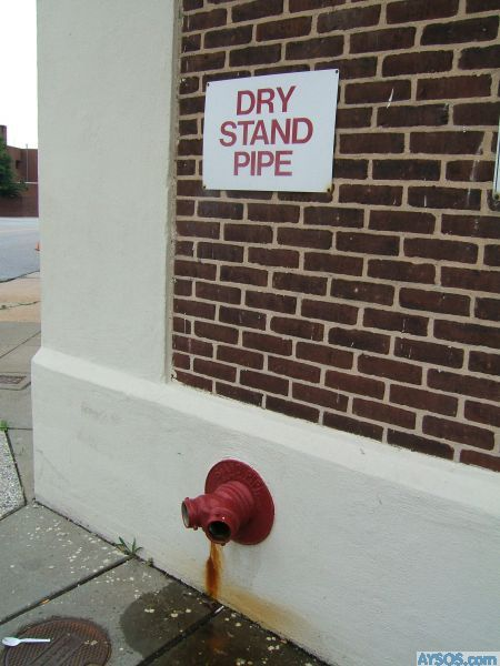 Funny Sign - Dry Pipe