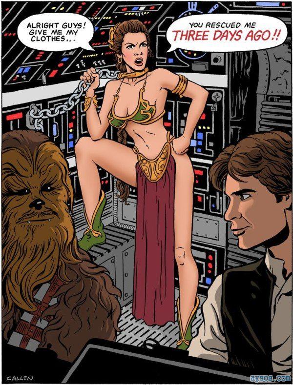 Princess Leia Star Wars scene