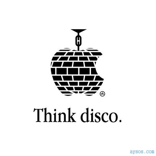 Funny Apple logo think Disco