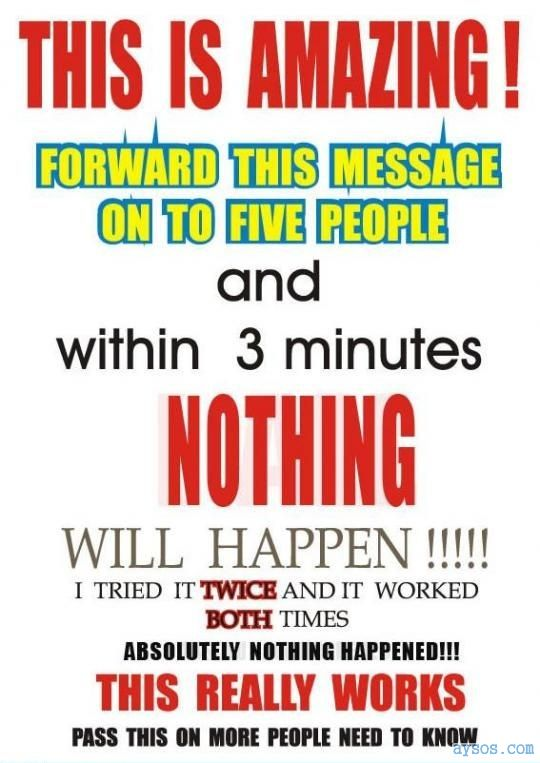 Funny Chain Letter spam picture