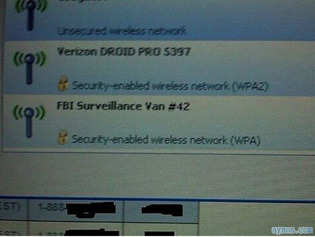 FBI Wifi surveillance hotspot van