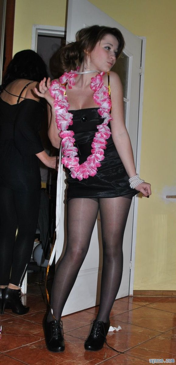 Pretty Party girl in Stockings