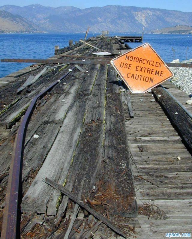 Broken Bridge Sign