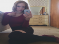 Cute teen takes a sexy selfie in stockings