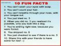 10 Random Fun Facts for you