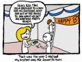 Suprise birthday party funny comic