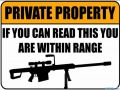 Funny Private Property Sign