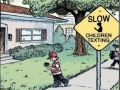 Texting Safety Slow for Children Funny Sign